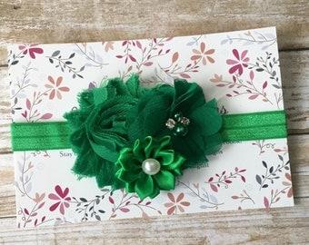 Green Headband, Green Baby Headband, Baby Headband, Infant Headband, Newborn Headband, Baby Girl Headband, St. Patricks Day Headband, Baby