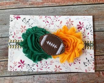 Green Bay Packers Baby Headband, Packers Headband, Football Baby Headband, Toddler Headband, Sports Headband, Girls Headband, Football Baby