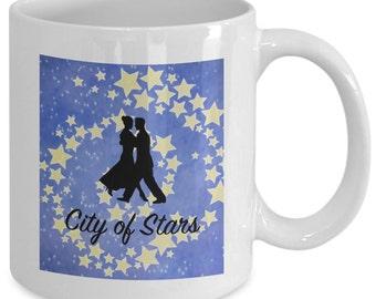 CITY OF STARS Mug - Star Waltz - Movie Musical Fan Gift - 11 oz white coffee tea cup