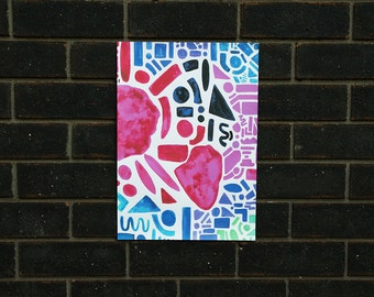 Heartstrings - Original design, print on thick-cut paper -