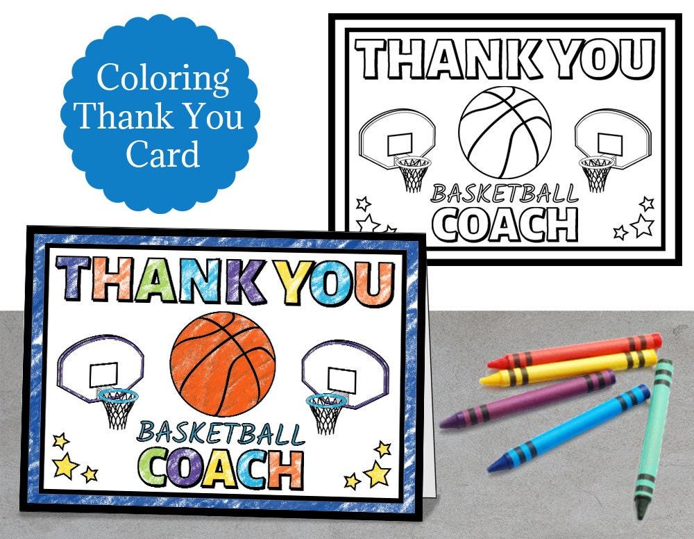 coloring basketball thank you coach basketball coach thanks thank