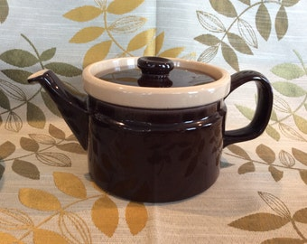 Vintage Wedgwood Monterey teapot chocolat brown oven to table ware