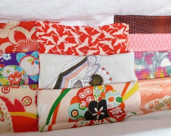 Assorted antique/vintage Kimono fabrics (Lager pieces) 150g - no.02