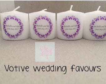 Personalised wedding favour-hen do favour-party favour-christening favour-baby shower favour-favours-personalised tea lights
