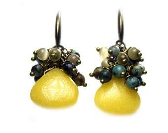Earrings Bohemian green 502