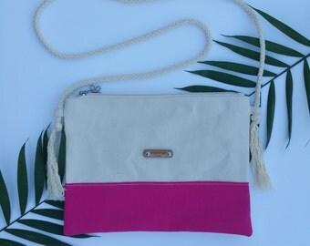 FREE shipping! (U.S. only!) POUCH'eM HAWAII Canvas Crossbody Bag/Shoulder Bag