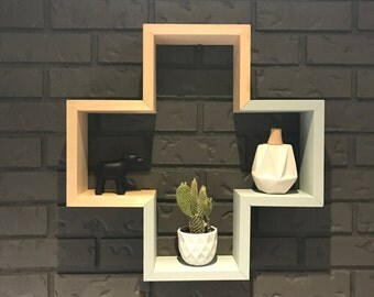 plus shelf | modern shelf | nursery decor | hand painted | dip dye