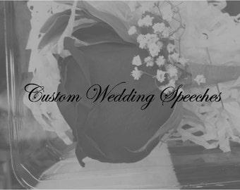 Custom Wedding Speech Digital Print Personalized Reception Toast Mother Of Groom Download