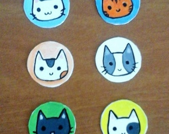 6 Kitty Kat Magnets