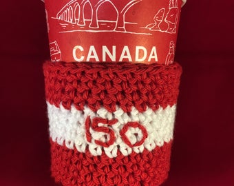 Canada 150 cup wrap, cup sleeve, Canada, cup sweater