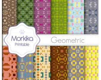Digital Paper Geometric