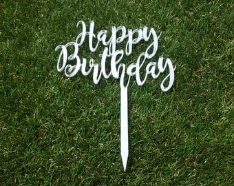 "Personalised ""Happy Birthday"" Cake Topper"