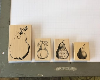 Pear Ink Stamps (Lot of 4)