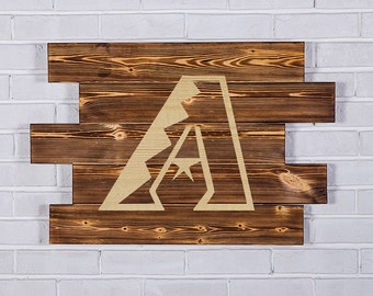 Arizona Diamondbacks Wood Sign Arizona Diamondbacks Wall art Arizona Diamondbacks Gift Arizona Diamondbacks Birthday Diamondbacks Party