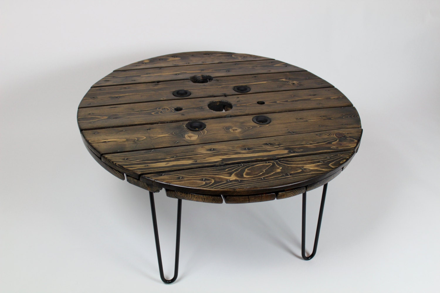 hair pin coffee table round coffee table wooden coffee. Black Bedroom Furniture Sets. Home Design Ideas