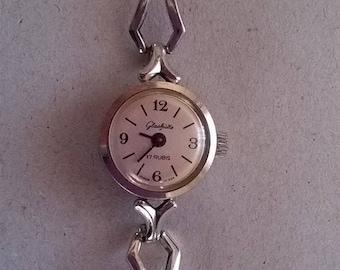 Lady's wristwatch, Glashutte 17 watch, Wristwatch, Wristwatch 80s, German wristwatch, Quality wristwatch, Vintage wristwatch