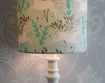 Handmade Lampshade Michael Miller Unicorn Forest
