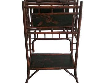 Palecek Bamboo Magazine Rack, Newspaper Rack,Bamboo Furniture