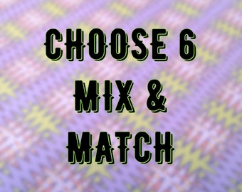 Choose 6 mix and match Wrapping Paper Sheets, your choice, assorted gift wrap, 6 sheets, 26-29x20 inches each, shipped rolled in tube