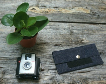 tobacco pouch leather night blue and black pouch