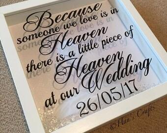 Personalised Wedding Memorial Frame