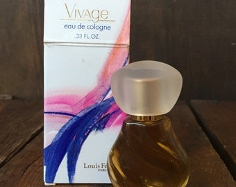 Unused, Vintage Avon, Vivage eau de cologne. .33 fl.oz. Vintage Avon, Womens Perfume, Collectible Glass, New in Box, Avon, Vivage.