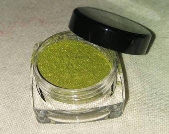Pan - Green Eyeshadow - Mineral Eyeshadow - Mineral Makeup - Goth Makeup - Cosplay Makeup - Cosplay - Gothic Makeup - Shimmery Eyeshadow