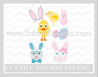 Easter Bundle SVG, DXF, PNG Files for Cricut and Silhouette cutting Easter svg, Easter svg files, Easter bunny svg ,Easter Bundle svg,