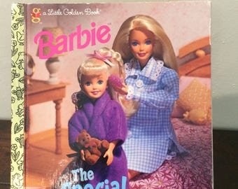 Barbie The Special Sleepover A Little Golden Book