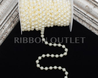 8mm Ivory Pearl String-10 Yards