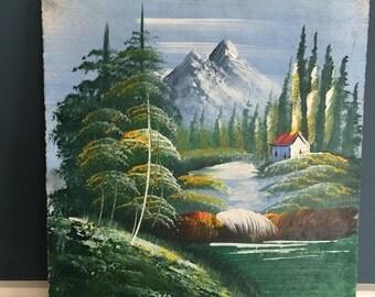 Vintage Student Painting