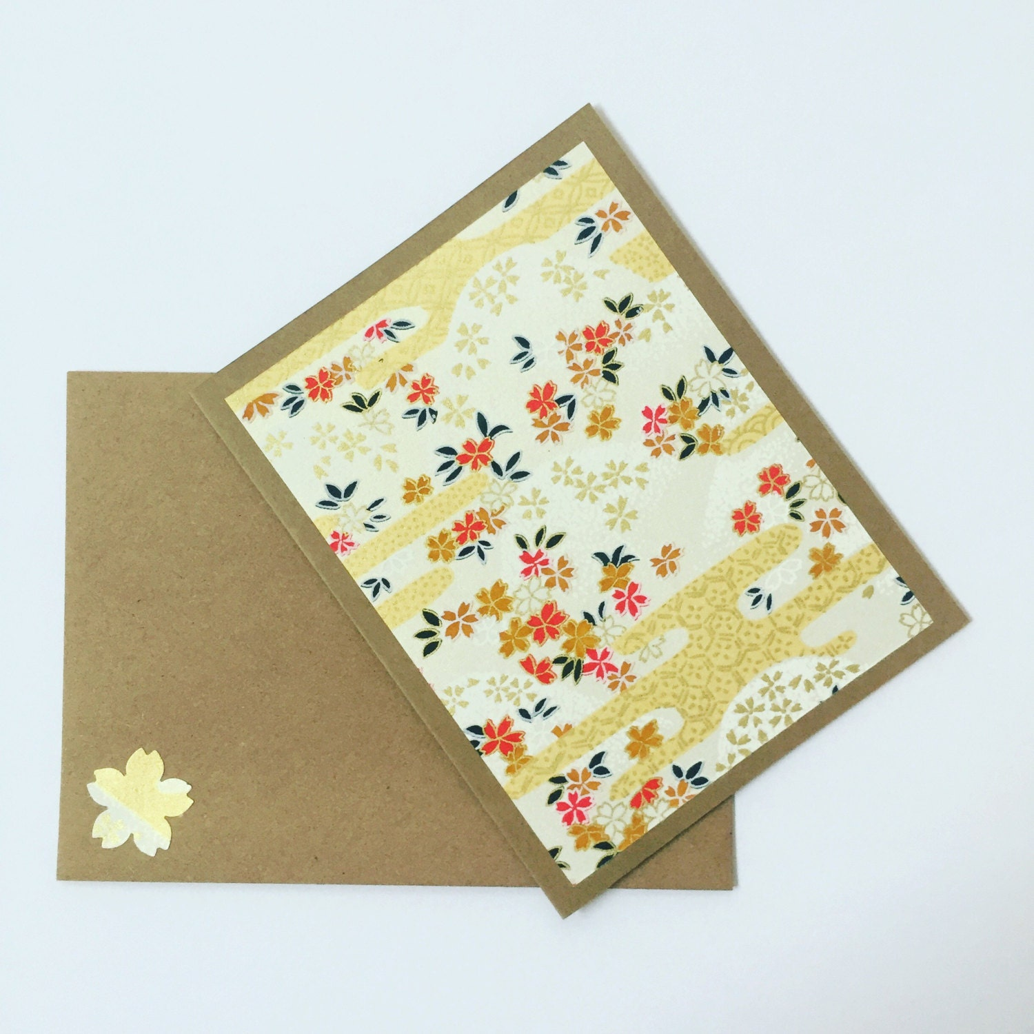 Gold blossoms note cards craft card stock paper craft for Craft paper card stock