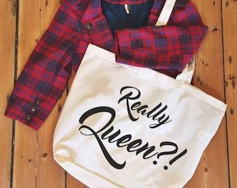 bianca del rio 'Really Queen?!' natural tote/shopper/shopping bag