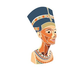 Nefertiti sticker- 4""