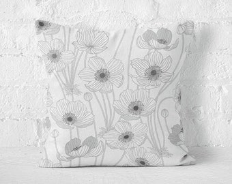Pillow case OUTLINE FLOWERS