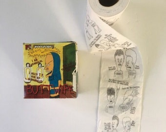 Vintage 1995 mtv beavis and butthead buttwipes toilet paper collectibles