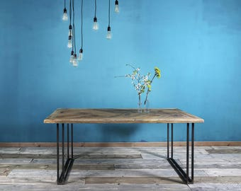 Dining table from timber & iron Yael 190 x 90 cm