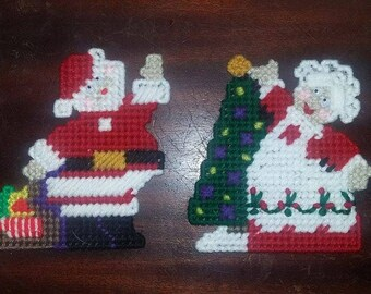 Mr. & Mrs. Clause Magnets or Tree Ornaments