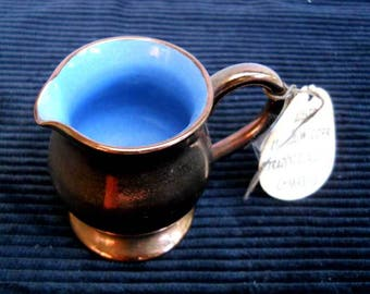 Welsh Copper Lustre Jug Vintage
