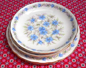 Tuscan Love in the Mist Blue Bone China Vintage