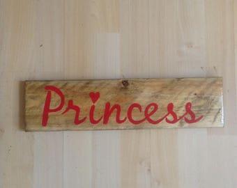 Princess bedroom door sign