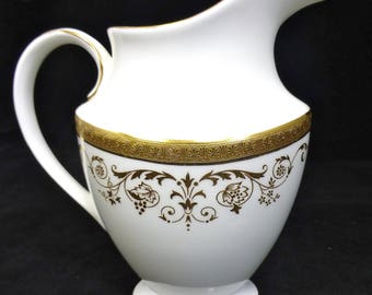 Royal Doulton Fine Bone China Large Creamer / Jug – Belmont Pattern – White and Gold - Highly Collectible – Replacement jug