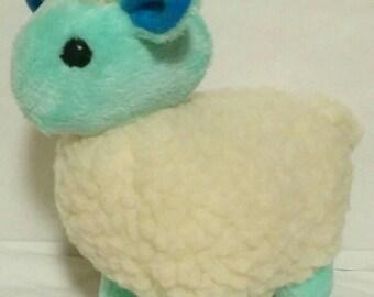 Pastel Turquoise Sheep Plushie