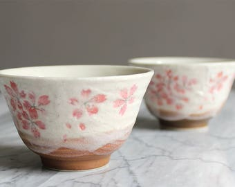 2 cup tea / coffee Japanese pattern Sakura in bloom very nice gift
