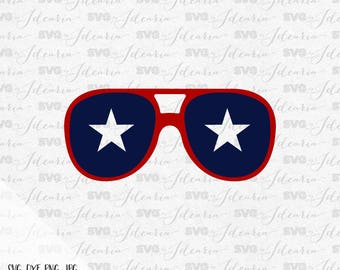 Patriotic Sunglasses Svg, 4th of July Svg, Patriotic Svg, Summer Svg, fourth of july svg, independence day, svg file, Silhouette, Cricut