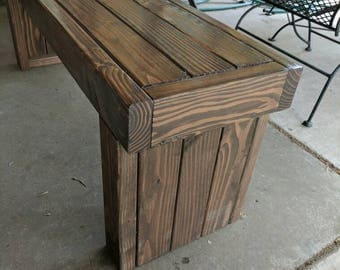 Patio Table Bench