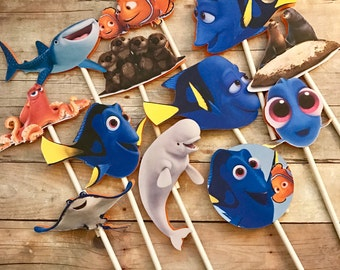 Finding Dory/Nemo Cupcake Toppers