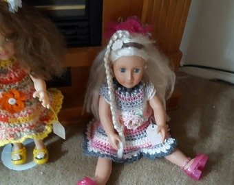 doll with dress and shoes