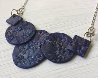 Midnight Blue Geometric Necklace