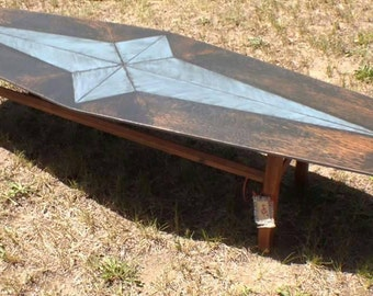 Retro vibe hand painted coffee table